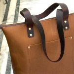 Let's TOTE ! Custom Leather Canvas Tote Bags