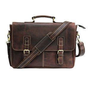 Genuine Vintage Leather Laptop Portfolio Bag