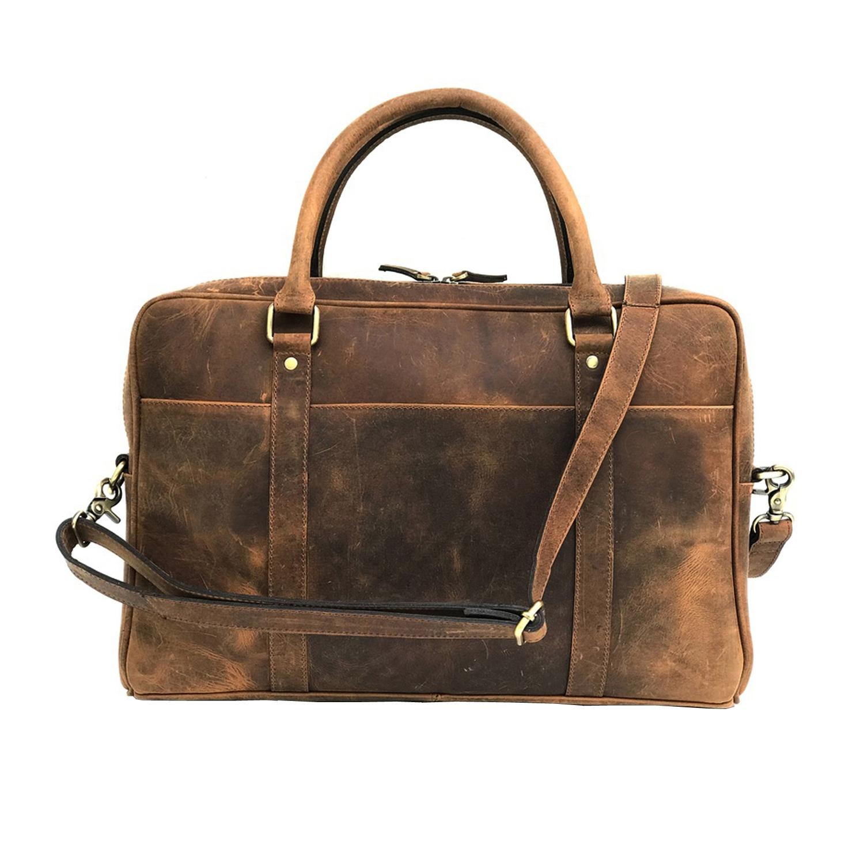 01fc1d32ff43 Brown Genuine Vintage Leather Laptop Bag – Zakara International ...