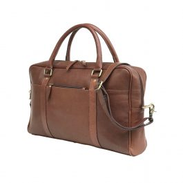 Dark Brown Genuine Vintage Leather Laptop Bag