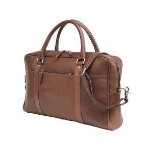 Dark Brown Genuine Vintage Leather Laptop Bag