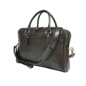 Coffee Brown Genuine Vintage Leather Laptop Bag