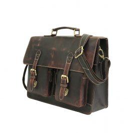 Genuine Leather Laptop Portfolio Bag